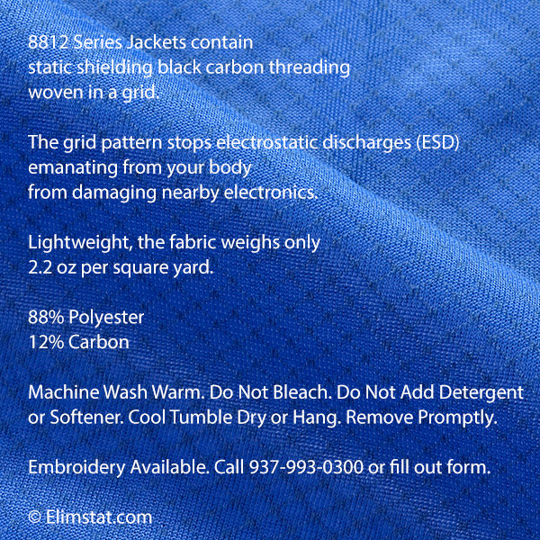 8812 Series Fabric seen at macro scale with carbon threading